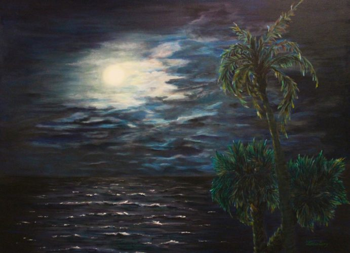 Lillian Coury- Summer Moon, Acrylic