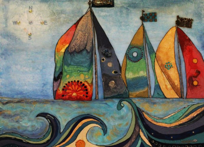 MiMi Stirn- Summerset Regatta, Mixed Media