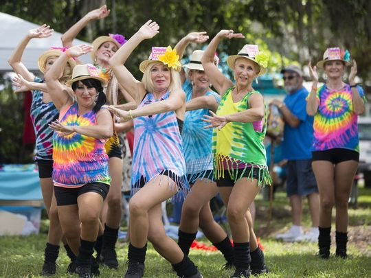 The Calendar Girls perform at the 2017 Peace Day in the Park celebration at the Alliance for the Arts in Fort Myers. (Photo: Kinfay Moroti/news-press.com)